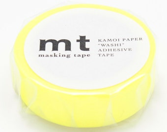 NEW - washi masking tape - shocking yellow