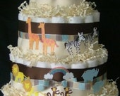 Bonnie- Noah's Ark Diaper Cake (3 Tier)