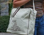 Vintage Travel Bag Canvas Carry On