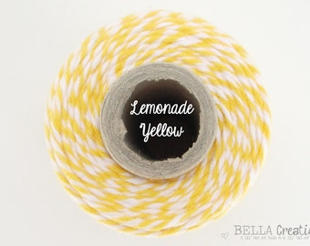 SALE Lemonade Yellow Bakers Twine by Timeless Twine