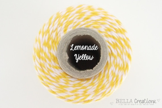 Lemonade Yellow Bakers Twine by Timeless Twine