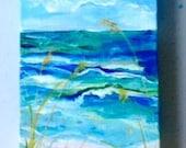"""A Slice of the Beach Custom 4""""x12"""" for Nicole"""