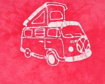 Volkswagen Westfalia Childrens Tee Shirt VW Bay Window Batik Shirt CUSTOM MADE Kids