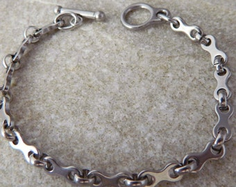 Bike Link Stainless Steel Bracelet
