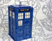 Large TARDIS Jar - Made to Order - Handmade Ceramic Container