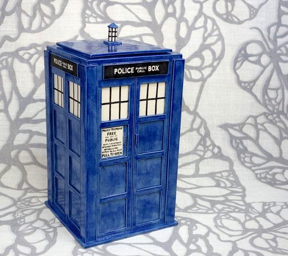 Large TARDIS Jar - Made to Order - Handmade Ceramic Container
