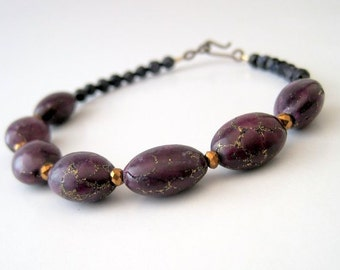 Purple Sparkle Gemstone Bracelet