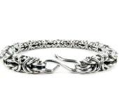 Black Byzantine - Chainmaille Bracelet