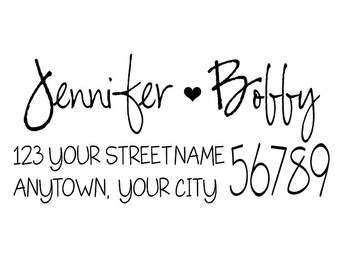 Personalized Self Inking Return Address Stamp - self inking address stamp - Custom Rubber Stamp R175
