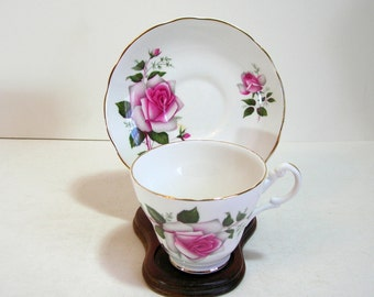 Royal Stuart English Bone China Teacup And Saucer