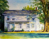 House Portrait Original Water Color painting of your House and two free Archival Prints