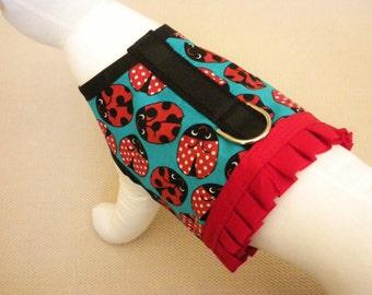 Ladybug Ruffle Dog Harness Vest