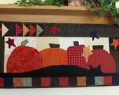 Pumpkins and Black Cat Wall Hanging