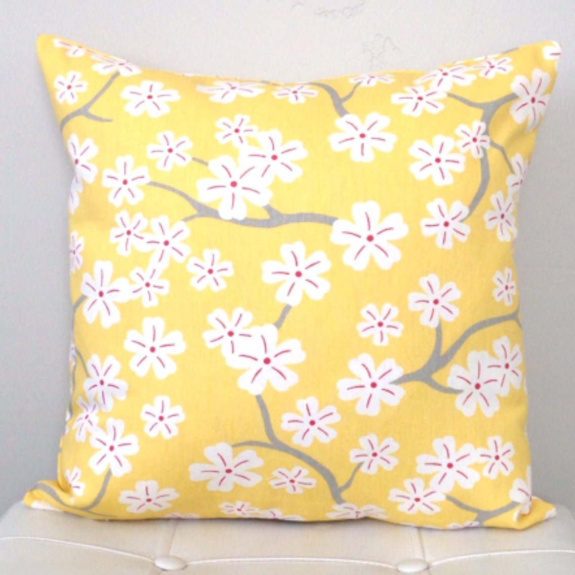 Pale Yellow Throw Pillow Cover : Yellow Decorative Pillow Cover Pale Yellow Accent Pillow