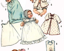 Vintage Doll Clothes PATTERN 4191 for 16 inch Thumbelina Baby Dear by Ideal