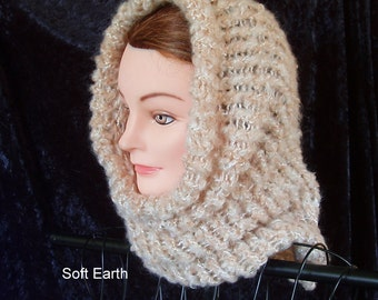 Knit cowl - wonderfully soft and stretchy - several colors
