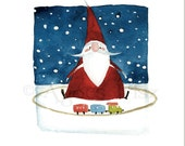 Pack of 4 Santa Cards