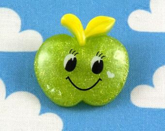 Kawaii Brooch Pin - Happy Apple