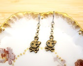 Pirate Pack Skull Crossbones Chain Earrings
