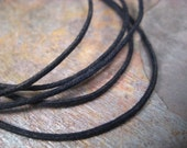 favorite 1mm waxed cotton cord (by-the-yard) black