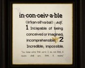 Inconceivable Definition Cross Stitch Pattern