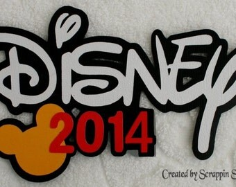 DISNEY - 2014 TITLE - Premade Die Cut Paper Piece Piecing for Scrapbook Pages - SSFF
