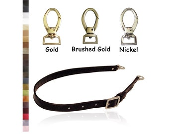 Adjustable Buckle Strap - Long Length - 1 inch Wide - Your Choice of Genuine Leather Color and Hardware Style #2 - Made to Order