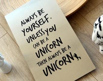Be a unicorn steel wall art