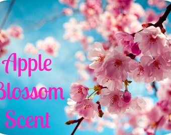 APPLE BLOSSOM Scented Soy Wax Melts - Soy Wax Tarts - Fruit - Floral - Wickless Candle - Hand Poured  In USA - Highly Scented