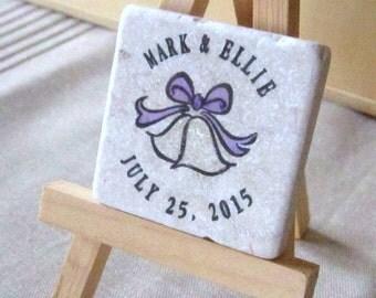 Wedding Bells Wedding Favors, Save the Date Magnets, Set of 15