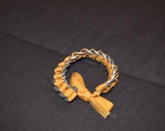 Yellow Matte Ribbon Washer Bracelet