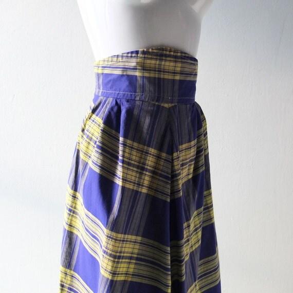 items similar to vintage 1940s madras plaid high waist