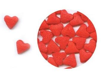 Mini Heart Confetti Sprinkles (4 ounces) 1/4 pound