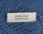 Knitting/Crochet Care Labels- Machine Wash Lay Flat to dry