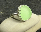 Pale Green Seaglass Ring