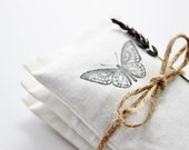 Butterfly Lavender Sachets, Cotton Anniversary Gift, Romantic Home Decor