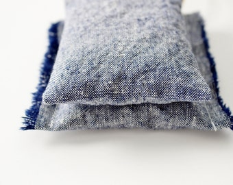 Car Air Freshener - Blue Denim Lavender Sachet - Cotton Anniversary Gift for Him