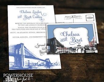 Brooklyn Landmark Wedding Invitations