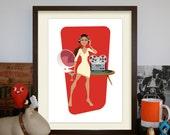 Reel to Reel Martinis – A3 Artprint