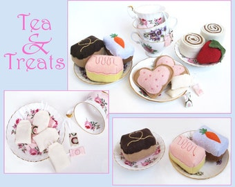Time for Tea - Pretend Felt Treats and Tea Bags