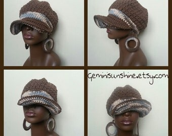 Coco Earth Ombre Divine Being Crochet Cotton Cap and Earrings