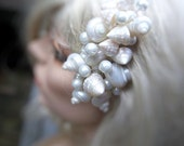 Beach Wedding Shell Hair Accessory Comb (Onotoa Atoll Shell Style). Made to Order