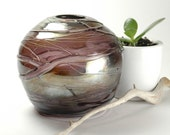 Globe Vase - Amethyst Metallic - Handblown Glass