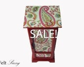 SALE - Refurbished Jewelry Box Large - Tall Paisley - by FeltSassy