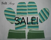 SALE - Wool Sweater Mitten Kit - Womens Size DIY - Fully Lined #104