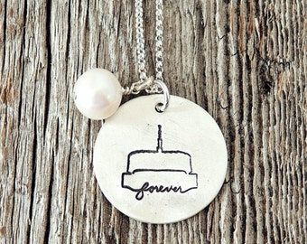 Provo Utah LDS Temple, Temple Forever Necklace, Temple Necklace, Temple, LDS Jewelry, Mormon Charm, Temple Charms, LDS Wedding