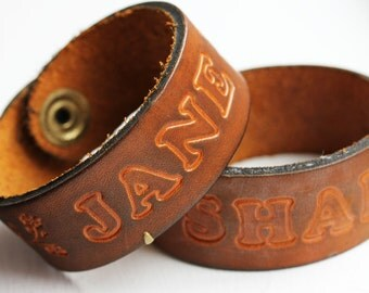 Sample Sale - Leather Name Bracelet - See Listing for Names
