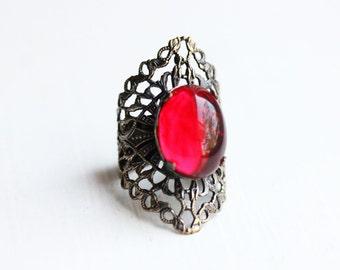 Red Shield Ring