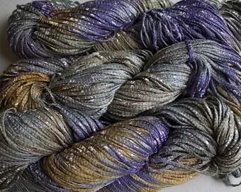 Bamboo Tape Ribbon, Hand dyed yarn - Summer