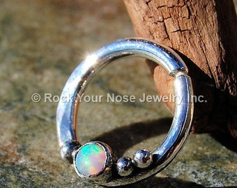 Opal Septum Ring Nose Ring - CUSTOMIZE